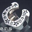 CZストーンホースシューリング シルバー925,ジルコニア (メンズ レディース 指輪 馬蹄 蹄鉄 銀)