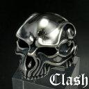 Clash パラミータスカルリング シルバー925 銀製 (skull ring ドクロ どくろ 髑髏 指輪,唐草,アラベスク,)