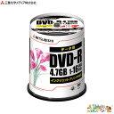 三菱化学メディア PC DATA用 DVD−R 1−16倍速対応<ケース:スピンドルケース>DHR47JPP100【a11897】
