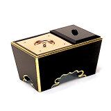 法事に便利な焼香用の角香炉です。角香炉 黒塗り 6寸 巾18cm×奥行10.2cm