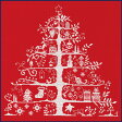 【DMC】 クロスステッチ キット JPBK557R クリスマスツリー (レッド) 【あす楽】【HLS_DU】 【RCP】