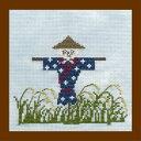 【Brodees】 刺繍キット K247 Seasnal Cross-stitch kit かかし
