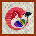 【Brodees】 刺繍キット K275 Seasonal Cross-stitch kit 干支 酉 とり