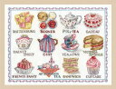 【DMC】 クロスステッチ 刺繍キット BK1460 Afternoon Tea Sampler / Douceurs a lheure du the 【あす楽...