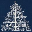 【DMC】 クロスステッチ キット JPBK557N クリスマスツリー (ネイビー) 【あす楽】【HLS_DU】 【RCP】