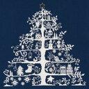 ※在庫限り※【DMC】 クロスステッチ キット JPBK557N クリスマスツリー (ネイビー) 【あす楽】【HLS_DU】 【RCP】