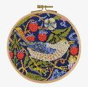 【DMC】 クロスステッチ 刺繍キット BL1174/77 William Morris - Strawberry Thief 『いちご泥棒』 フープキット【あす楽】