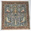 【ART de LYS】 William Morris 8689B ARBRES ET OISEAUX FOND BLEU ゴブラン織りパネル生地 (約50×50cm) 【あす楽】【HLS_DU】