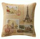【ART de LYS】 Stamp Paris 8374 クッションカバー (36cm角) 【送料無料】【あす楽】【HLS_DU】