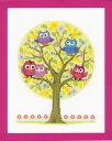 【ベルバコ】 クロスステッチ 刺繍キット 0146618 Little Owls Tree フクロウの木【あす楽】【HLS_DU】