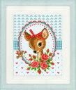【ベルバコ】 クロスステッチ 刺繍キット 0150452 Bambi and Roses バンビと薔薇【あす楽】【HLS_DU】