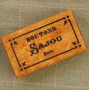 【SAJOU】 サジュー 木箱 Button box silkscreen printed wood BTE_BO_SERI 【あす楽】【HLS_DU】