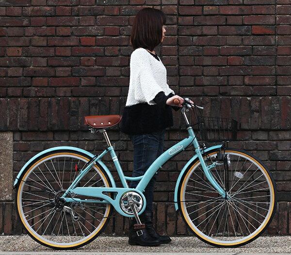 自転車の 自転車 送料無料 26インチ : 自転車26インチ軽快車シティ ...