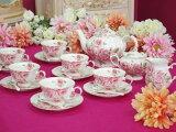 在庫残りわずか!写真のものが全部付いて♪薔薇ティータイムデラックスセット♪パーティーやプレゼントにおすすめ♪ ロココ ティータイム ティーセット パーティー プリンセス ローズ 薔薇 テーブル おしゃれ 可愛い 来客用 プレゼント ウェディング お祝い