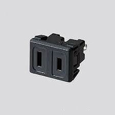 WCF1013A パナソニック [機器用]15A125Vはめ込みコンセント 横型(極性付)(チョコ)