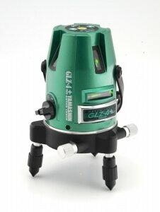 グリーンレーザー墨出し器GLZ-4+Wフルセット山真製鋸(本体+受光器+三脚セット)大矩ライン照射モデルメタリックグリーン