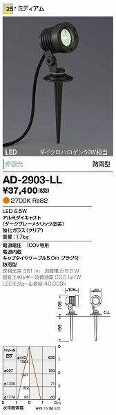 AD-2903-LL 山田照明 屋外スポットライト ダークグレー LED 532P15May16 lucky5days