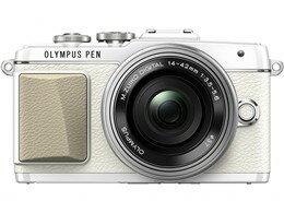 OLYMPUS / オリンパス ミラーレス一眼カメラ OLYMPUS PEN Lite E-PL7 14-42mm EZレンズキット [ホワイト] 【デジタル一眼カメラ】