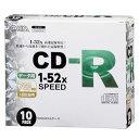オーム電機 PC-M52XCRD10L CDーR 52倍速対応 データ用 10枚 スリムケース入リ 01-0741 PCM52XCRD10L