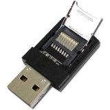 【メール便可】マイクロSDカードリーダーライター 2スロット 2枚挿しで64GB ブラック KCT101B