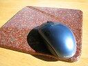 石のマウスパッドインドから採れる赤色の石(インド赤御影石)天然素材!石のマウスパッド 赤...