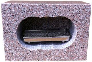 お墓のリフォーム! 墓石用角香炉G663 【送料無料】【自社茨城工場加工】【空気穴加工】
