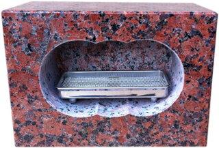お墓のリフォーム!墓石用角型香炉【送料無料】【自社茨城工場加工】【空気穴加工】
