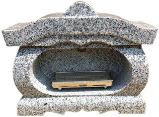 墓石用屋根付香炉(宮型香炉)G603【送料無料】【新商品】サイズ約幅40×奥行17.5×高さ31cmお墓のリフォーム!【空気穴加工】