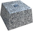 【貫通穴開いてます】白御影石G603の束石、沓石!上面4寸、高さ3寸【中国加工】