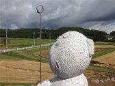 国産白御影石で彫ったお地蔵様♪着色有り高さ30cm重さ11.5kg大場正人制作