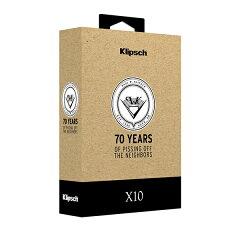 【イヤホン高音質】Klipsch(クリプシュ)X10Rev.1.270周年記念プライス【KLRFXA0113】カナル型イヤホン(イヤフォン)【送料無料】