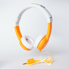 【折り畳み可】onanoff(オナノフ)Travelbuddyphoneオレンジキッズヘッドホン(ヘッドフォン)/子供向け【送料無料】