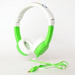 【折り畳み可】onanoff(オナノフ)Travelbuddyphoneグリーンキッズヘッドホン(ヘッドフォン)/子供向け【送料無料】