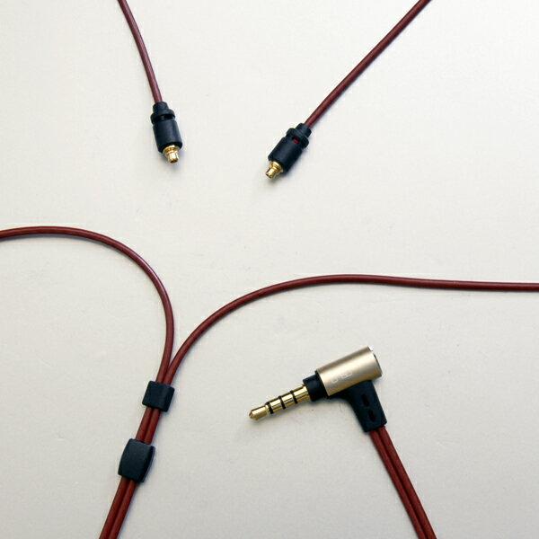 onso(オンソ) 2.5mm4極プラグ-MMCX(L/R)イヤホンケーブル 1.2m【iect_03_bl2m_120】【送料無料】
