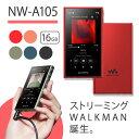 【2019年モデル】 SONY ソニー ウォークマン NW-A105 RM レッド Walkman ウォークマン 本体 Aシリーズ 16GB ハイレゾ対応 A100モデル ギフト 【送料無料】【1年保証】