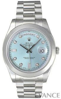 Rolex day-date II 218206A ice blue 10 P diamond