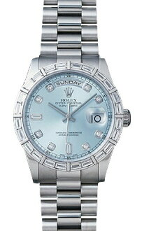 Rolex day-Date Watch 118366A ice blue 10 P diamond