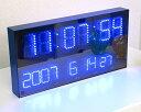 ●送料無料ON/OFFで表情がガラリと変わるLED時計!壁掛け時計/かけ時計/クロック/北欧/ミッドセンチュリー【送料無料】LEDクロックマルチ(壁掛け時計/掛け時計/かけ時計/クロック/北欧/ミッドセンチュリー/インテリア雑貨)