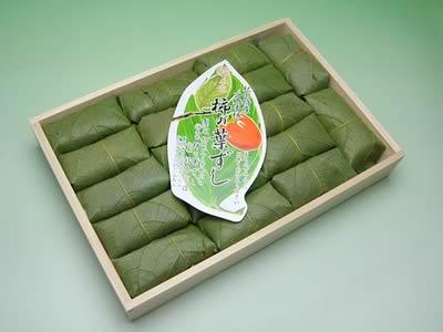 四郷 福本商店の柿の葉ずし鮭 三合折