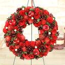 【クリスマスリース】クリスマス飾り/リース/玄関/壁掛け/赤...