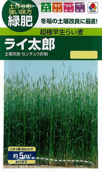 タキイ種苗 緑肥 超極早生らい麦 ライ太郎