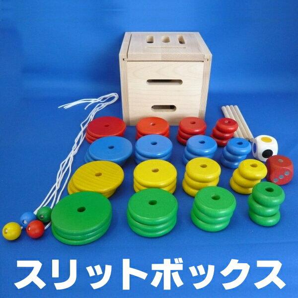 木のおもちゃ★子どもの発育段階にあわせて遊べるスリットボックス【送料無料】【木のおもちゃ】【送料無料】【kgz3P】【ptkz3】【smtb-F】 楽天