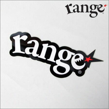 range ステッカー logo  黒