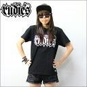 RUDIE'S Tシャツ SPARK 黒x白ロゴ (ルーディーズ)(メンズサイズ)