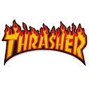 THRASHER パッチ FLAME (スラッシャー)(ワッペン)(IMPORT)