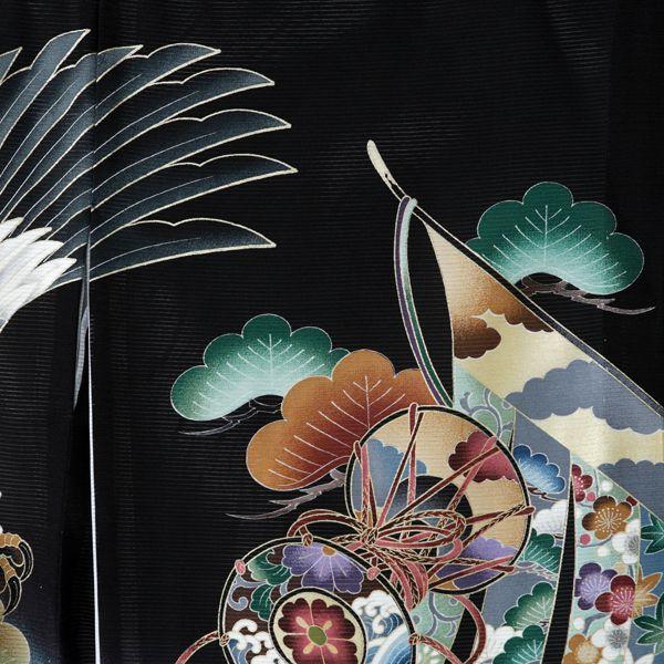 【レンタル】絽 正絹 飛翔鷹 兜 几帳〔産着レ...の紹介画像3
