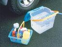 ウォッシュBOX WB-20 ブルー クリア洗車 車用品 洗車用品 ボックス ガーデニング 屋外 ウォッシュボックス