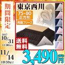 【あす楽】 東京西川(西川産業) リバーシブル こたつ布団 75/80 正方形 リバーシブルこたつ布
