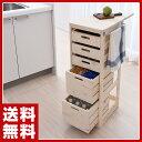 キッチンストッカー (隠しキャスター付き) SBK-9030 キッチンワゴン 野菜ストッカー キッチ...