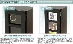 YAMAZEN鏡面CDタワー5段FCDT-2680DSG(BK)ブラック